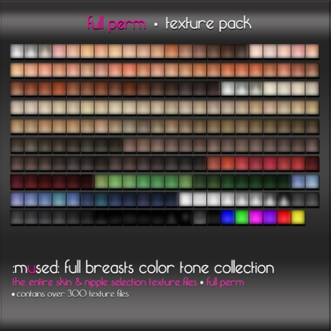 :mused: Full Breasts Color Tone Collection - Full Perm Texture Files