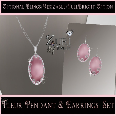 HFTC Fleur Pendant & Earrings by Zuri Rayna