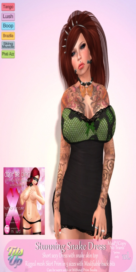 Tits Up Hunt item poster  stunning snake Dress