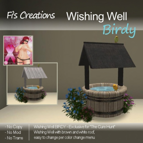 Fi's Creations - Wishing Well BIRDY - PICTURE