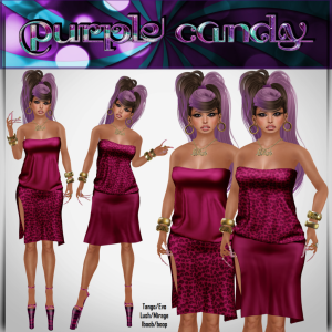 ginna __Purple Candy__ Hunt Prize (2 mesh dress)