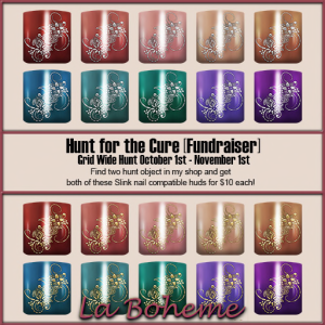 La Boheme Hunt for the Cure Prizes