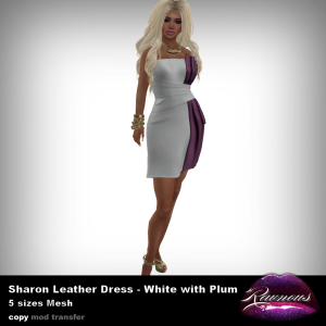 Ravnous - Sharon Dress - WhitePlum v.1