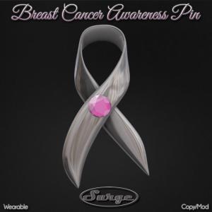 (Surge) Breast Cancer Awareness Pin