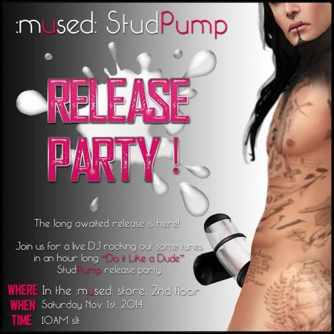 Stud pump release party