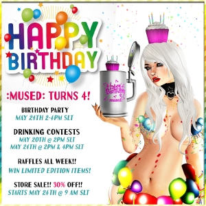 4th bday mused event